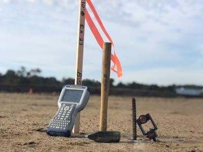 photo of construction surveying