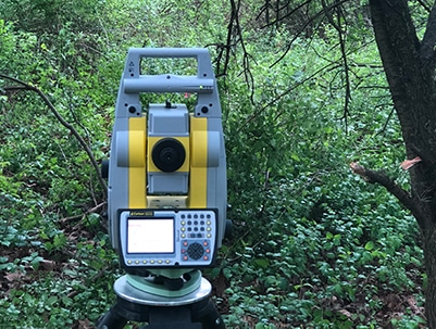 photo of land surveying